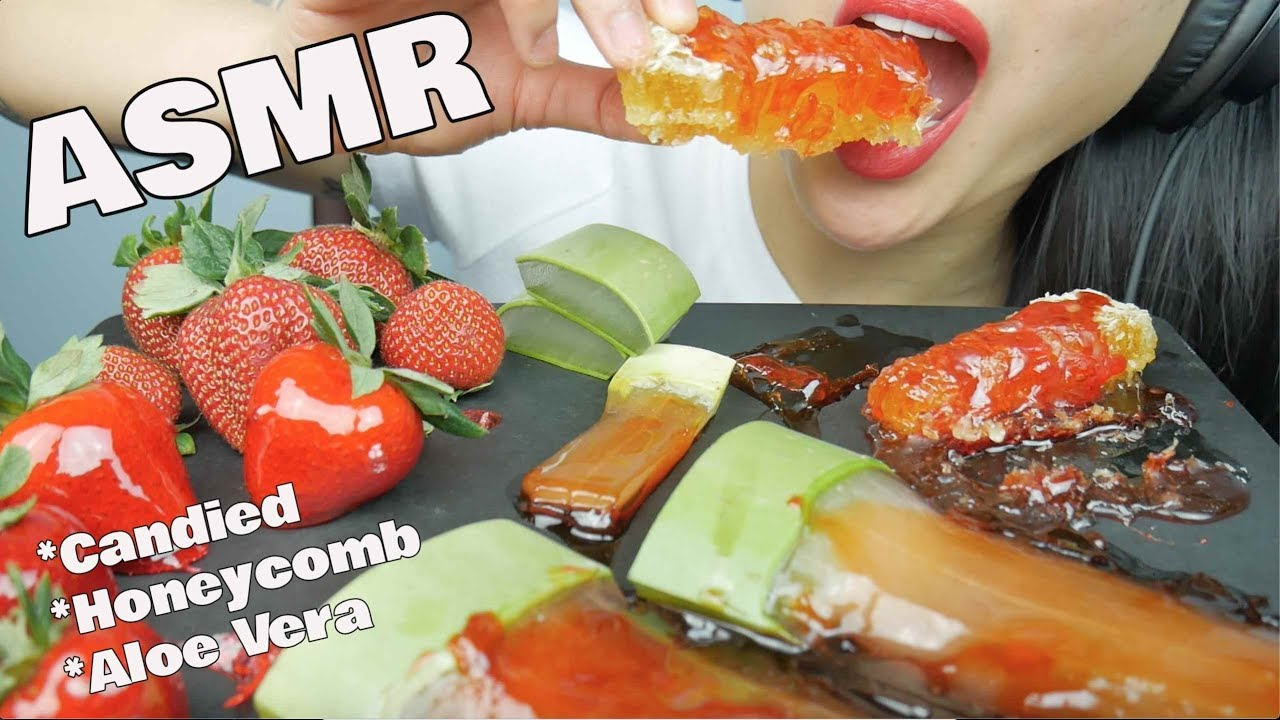Asmr Candied Honeycomb Aloe Vera Strawberry Eating Sounds Sassesnacks Gofundme Sas Asmr Asmrhd Check out the aloe challenge play list from other artist. asmrhd