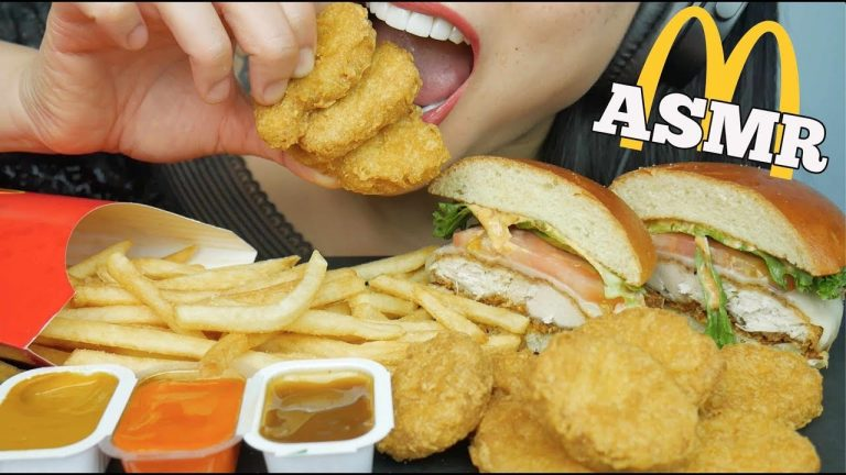 Asmr Mcdonalds Chicken Nuggets Burger Eating Sounds No Talking Sas Asmr Asmrhd However, we can see him in some of her videos. asmrhd