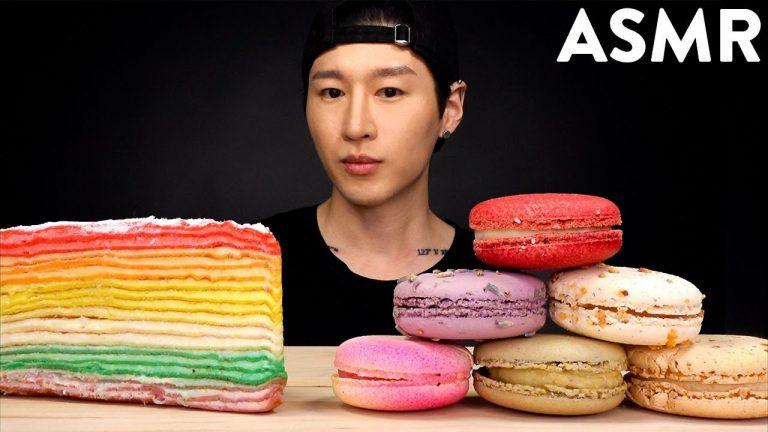 Asmr Crepe Cake Macarons Mukbang No Talking Unboxing Eating Sounds Zach Choi Asmr Asmrhd Handmade crepe cake mukbang asmr real sound suna asmr. asmr crepe cake macarons mukbang no