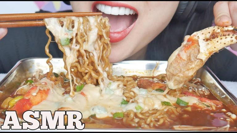 Asmr New Spicy Noodles Rice Cakes Cheesy King Crab Eating Sounds No Talking Sas Asmr Asmrhd Everyone has a different asmr triggers. asmr new spicy noodles rice cakes