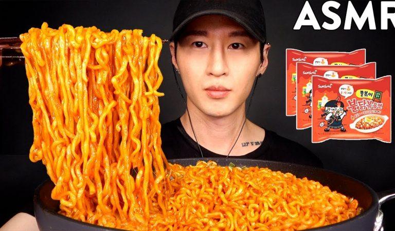 ASMR NEW SAMYANG TOPPOKI + MOZZARELLA CHEESE MUKBANG (No Talking) EATING SOUNDS | Zach Choi ASMR