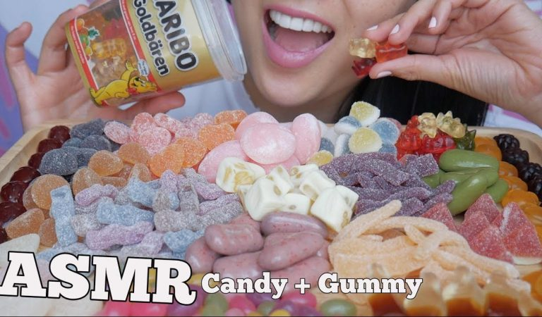 ASMR SUGAR CANDY MOCHI GUMMY (SOFT CHEWY EATING SOUNDS) *Japanese SWEETS | SAS-ASMR