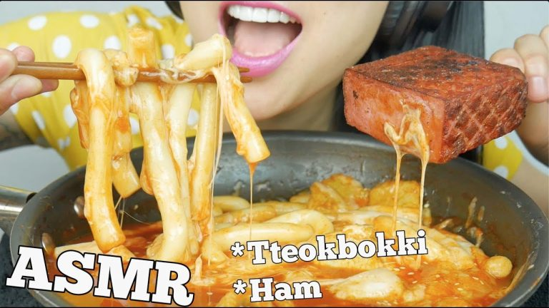 Asmr Long Noodle Rice Cake Cheesy Ttokbokki Ham Soft Chewy Eating Sounds No Talking Sas Asmr Asmrhd If you are curious you are already half way there. asmrhd