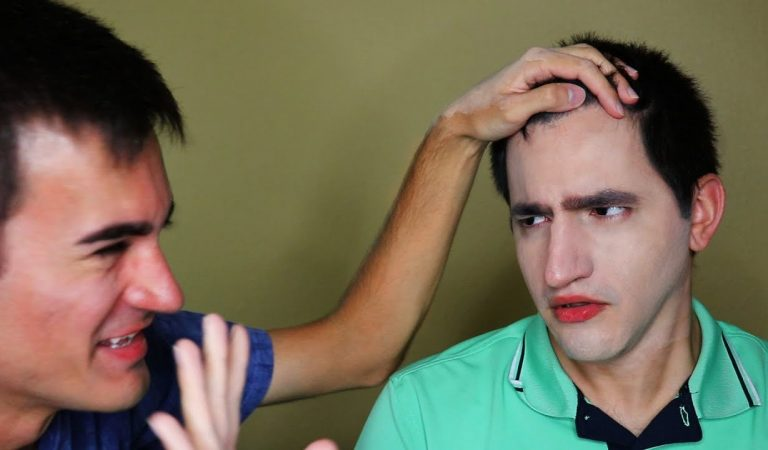 Makeup Application to Brother for First Time! (ASMR)