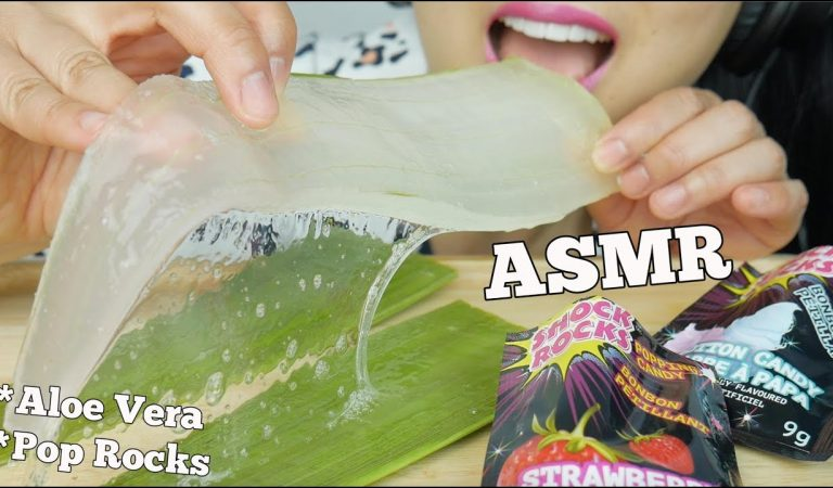 ASMR ALOE VERA *MOST DISGUSTING YET POPULAR + POP ROCKS (CRACKLING SOUNDS) NO TALKING   SAS-ASMR