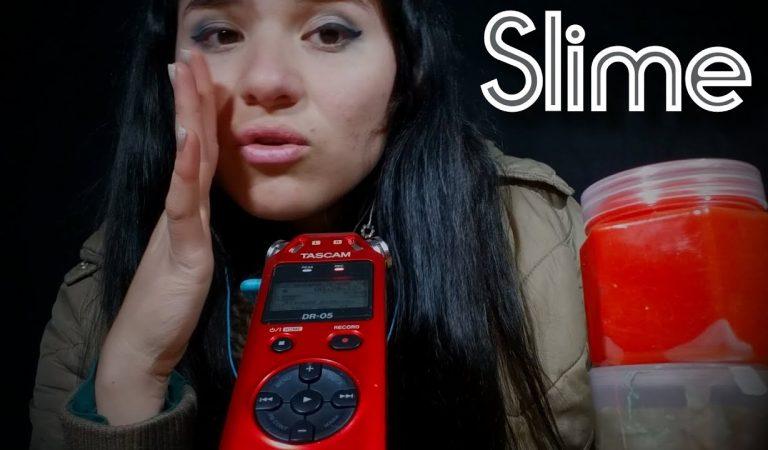 ASMR// SONIDOS RELAJANTES CON Slime + Susurros 💜😋