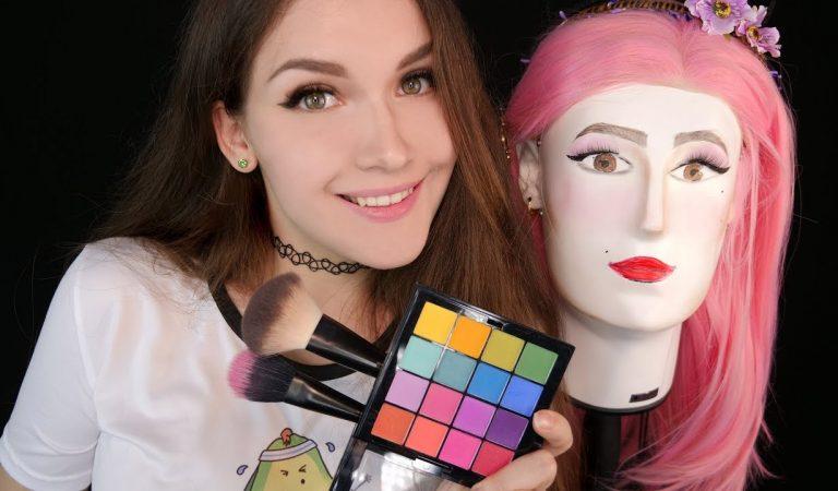 АСМР Красим голову-микрофон 💄🙋 ASMR Makeup Head-Microphone