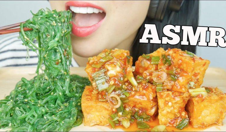 ASMR Spicy Tofu + Seaweed Salad (EATING SOUNDS) NO TALKING | SAS-ASMR