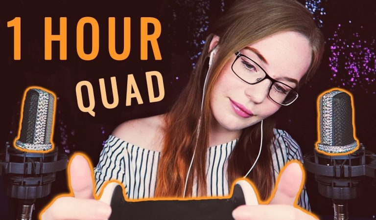 1 HOUR Quad ASMR: Ear to Ear Whisper and Ear Massage (Tingle GUARANTEE)