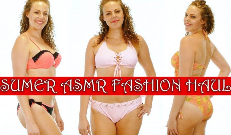 ASMR Whispered Try On Haul: End of Summer Fashion & Intense 3Dio Sounds for Relaxation, Rosegal
