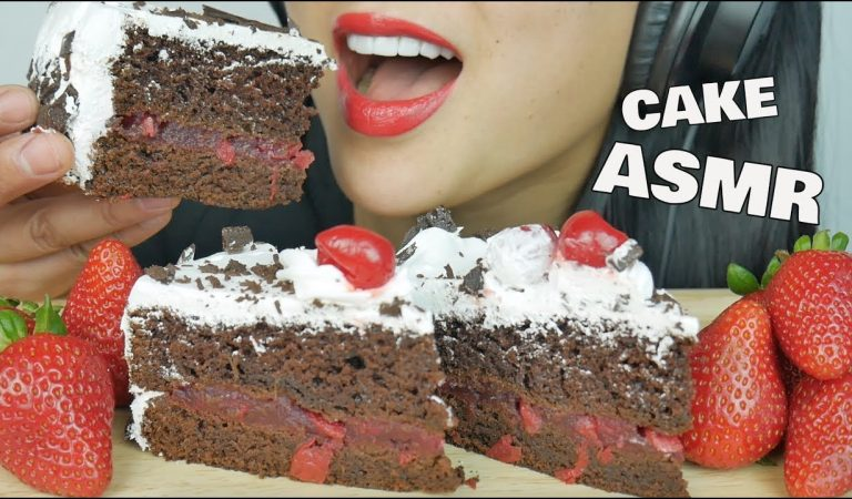 ASMR BLACK FOREST CAKE (EATING SOUNDS) | SAS-ASMR