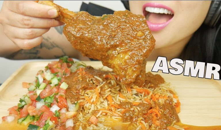 ASMR LAMB SHOULDER + AFGAN RICE (EATING SOUNDS) NO TALKING | SAS-ASMR