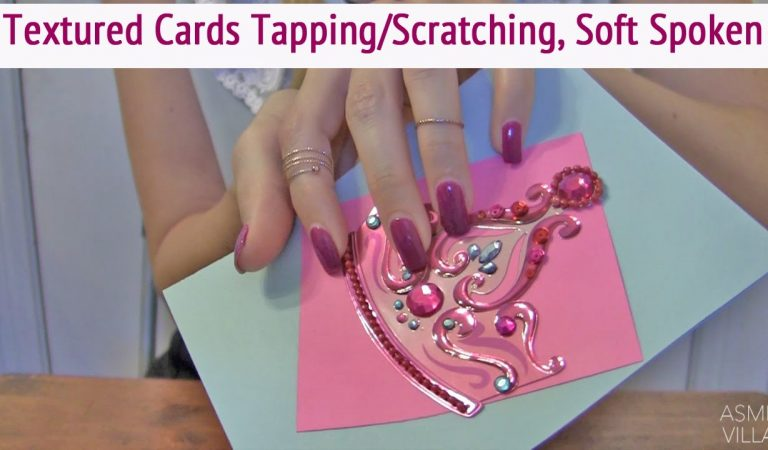 ASMR * Textured Cards * Tapping & Scratching * Fast Tapping * Soft Spoken * ASMRVilla