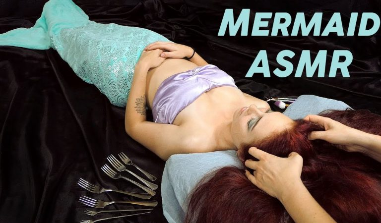 Big Sister Helps Ariel Fall Asleep ♥ Soft Spoken Face & Hair Brushing, Relaxing Spa Session Roleplay
