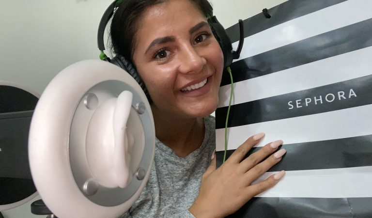 ASMR 3Dio Makeup Haul | Mobile-Friendly