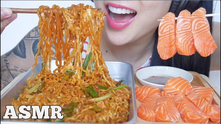 Asmr Spicy Noodles Salmon Sashimi Fire Sauce Eating Sounds No Talking Sas Asmr Asmrhd Eating japanese food sashimi carpaccio salmon & japanese scallop 刺身カルパッチョ. asmrhd