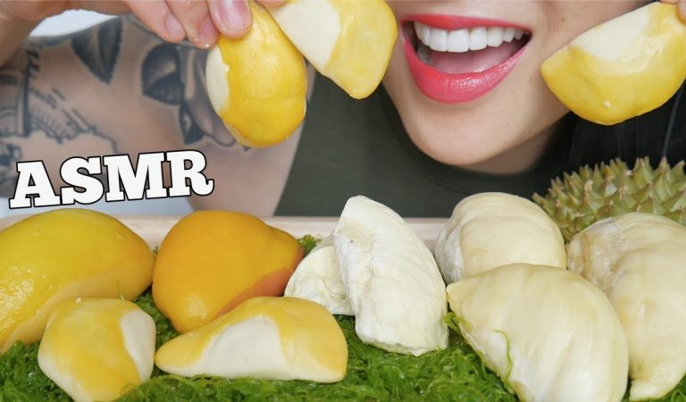 ASMR FREEZE DRY DURIAN MOCHI PIE (SOFT EATING SOUNDS) NO TALKING | SAS-ASMR