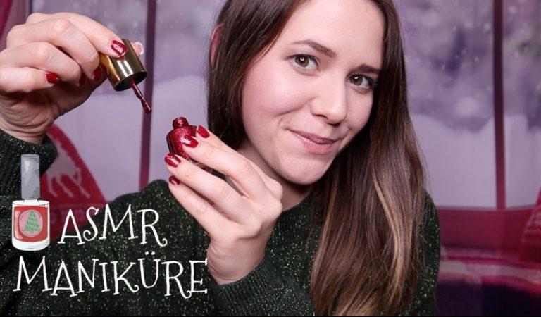 ASMR Deine Weihnachtliche Maniküre ♡ Peeling, Feilen + Massage   ASMR RP