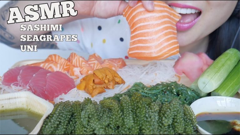 Asmr Salmon Tuna Sashimi Seagrapes Uni Eating Sounds No Talking Sas Asmr Asmrhd To make ends meet in canada her most popular videos are 'asmr honeycomb (extremely sticky satisfying eating sounds) no talking' with a whopping 26 million views and 'asmr salmon & octopus. asmrhd