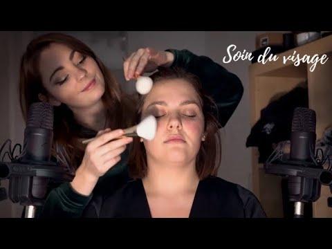 ASMR FRANCAIS ♡ SPA / SOIN DU VISAGE / VISUEL & WHISPER ♡