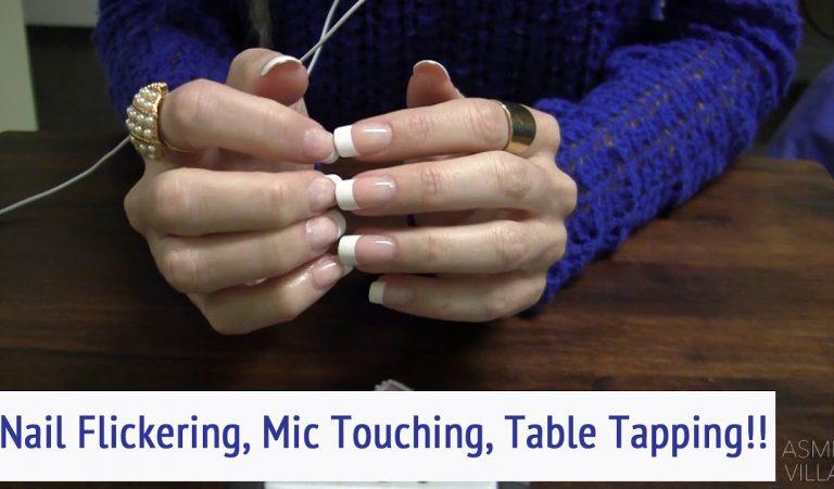 ASMR * Nail Flickering, Mic Touching, Table Tapping * Fast Tapping * Soft Spoken * ASMRVilla