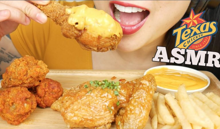 ASMR TEXAS FRIED CHICKEN *EXTREME SPICY + CHEESE SAUCE (EATING SOUNDS) NO TALKING | SAS-ASMR