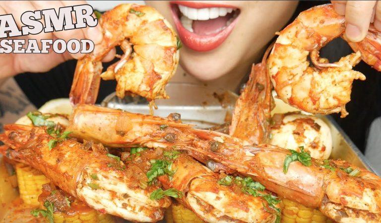 ASMR  SEAFOOD BOIL *GIANT PRAWNS + SPICY SEAFOOD SAUCE (EATING SOUNDS) NO TALKING | SAS-ASMR