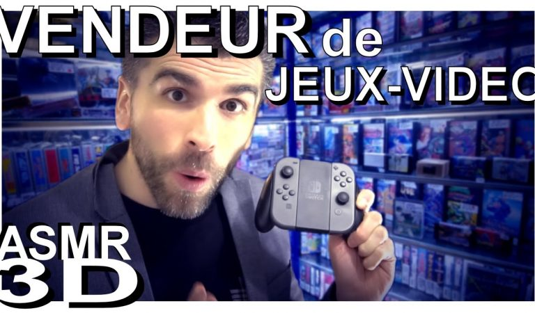 ASMR français – ROLEPLAY: Vendeur jeux vidéo (voix douce, chuchotement, whisper, binaural)