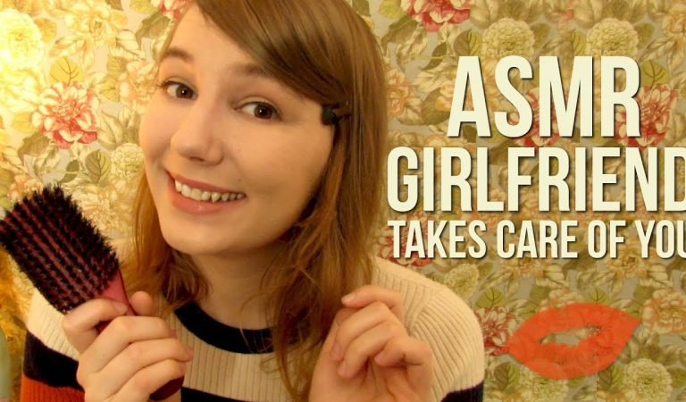 ASMR | Girlfriend Takes Care of You After Long Day ❤ Hair Brushing, Singing, Kisses, Hugs, Rain
