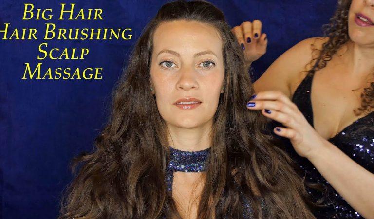 Relax & Melt Your Stress Away! Scalp Massage & Hair Brushing Long Thick Hair!