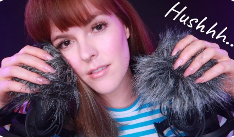 ASMR 'It's Okay', 'Hushhhh', 'Relax' + Fluffy Mics & Face Touching to Soothe You ♡