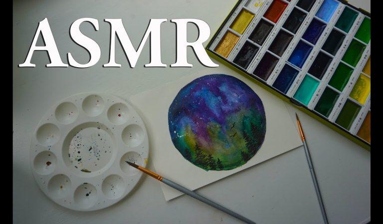 ASMR Pintando uma Aquarela Voz bem Suave para Dormir #soninho