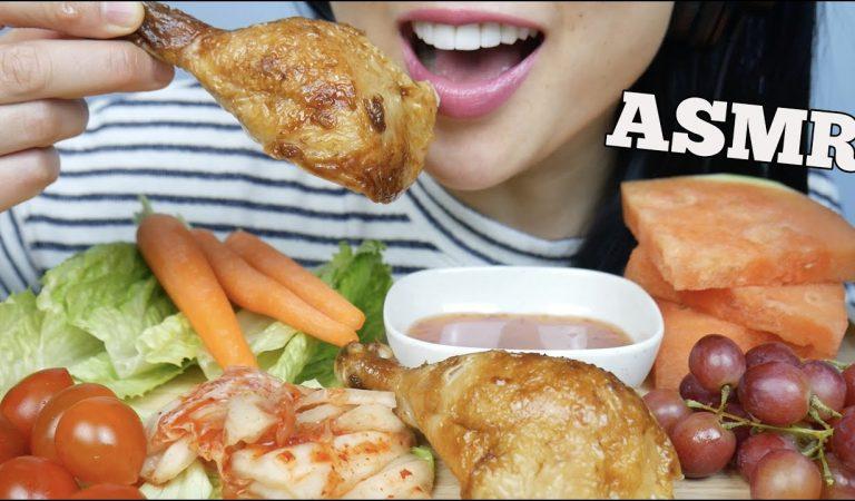 ASMR ROTISSERIE CHICKEN + FRESH VEGGIES (EATING SOUNDS) NO TALKING | SAS-ASMR