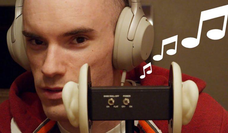 [ASMR] Binaural Soft Singing & Couch Drumming