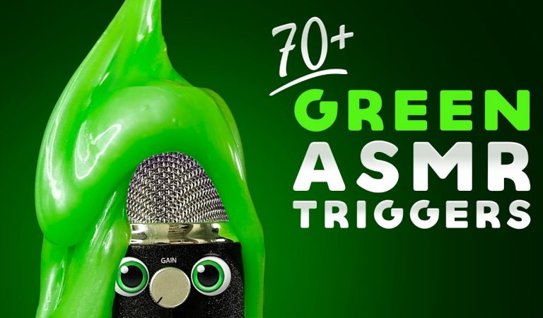 ASMR 70+ GREEN TRIGGERS [No Talking] Calming Color Compilation to Make You Sleep, Relax & TINGLE
