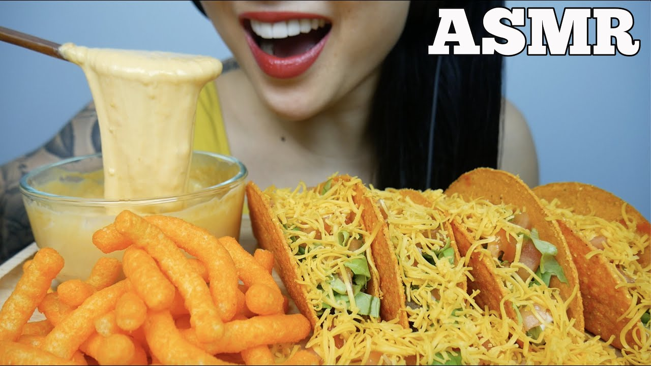 Asmr Cheesy Tacos With Cheese Sauce Cheese Puffs Eating Sounds No Talking Sas Asmr Asmrhd Asmr spicy cheesy noodles cheesy rice cakes king crab enoki mushrooms (satisfying eating. asmrhd