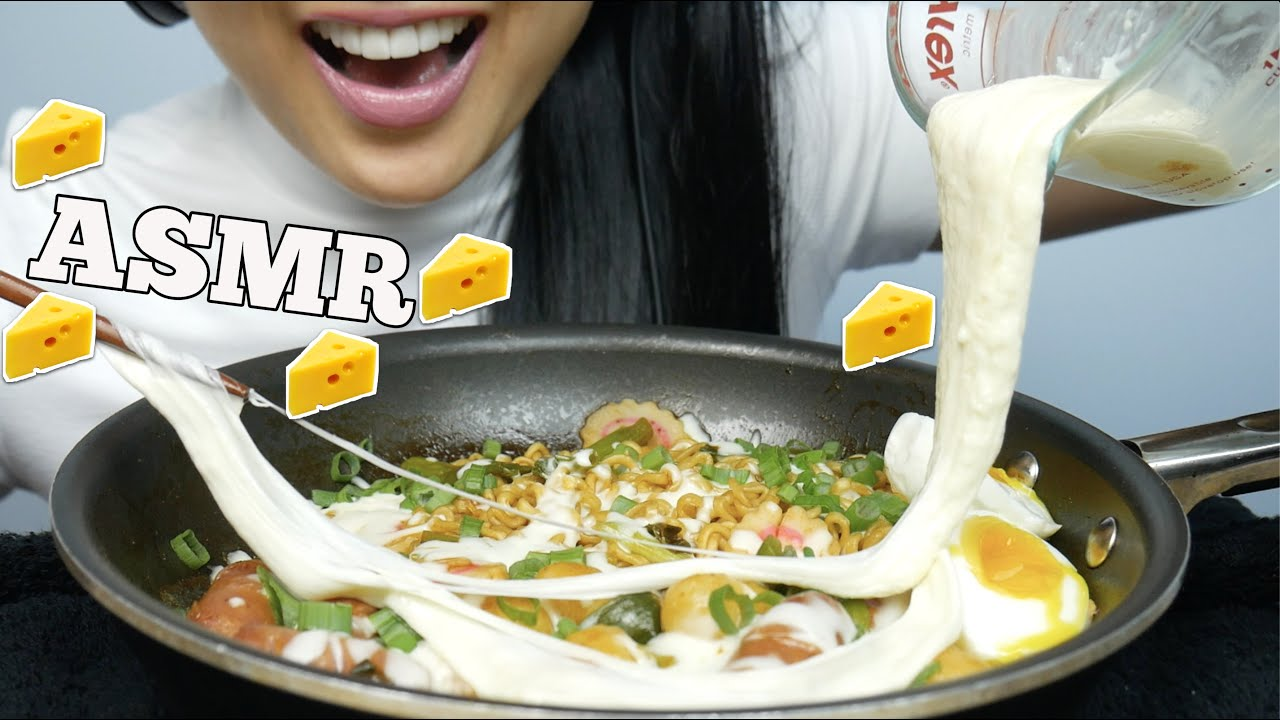 Asmr Mini Cheesy Rice Cakes Spicy Noodles Lots Of Cheese Eating Sounds No Talking Sas Asmr Asmrhd A mixture of cream of mushroom soup, cream of celery soup, and melted cheese coat egg noodles and tuna in this casserole topped with a layer of parmesan cheese. asmrhd