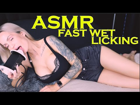 ASMR Wet fast aggressive Ear Eating & Licking – Intense Mouth Sounds to relax