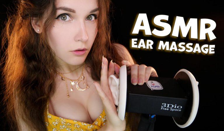 АСМР Массаж ушей Масло & Крем 👂💆♂️ ASMR Cream & Oil Ear Massage (No Talking)