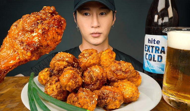 ASMR KOREAN FRIED CHICKEN from EXTREME JOB | COOKING & EATING SOUNDS | Zach Choi ASMR