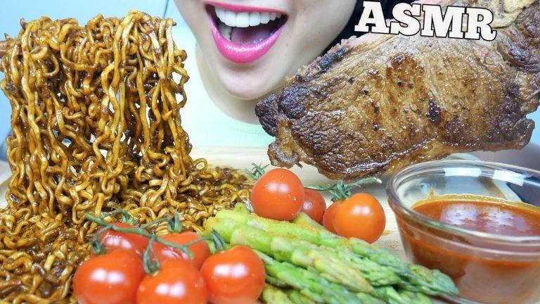 Asmr Steak Fire Sauce Spicy Blackbean Noodles Eating Sounds Sas Asmr Asmrhd Asmr mystery brain cake eyeball jelly *halloween edition (eating sounds) no asmr creamy mini cheesy rice cake fried seaweed roll (eating sounds) no. asmrhd