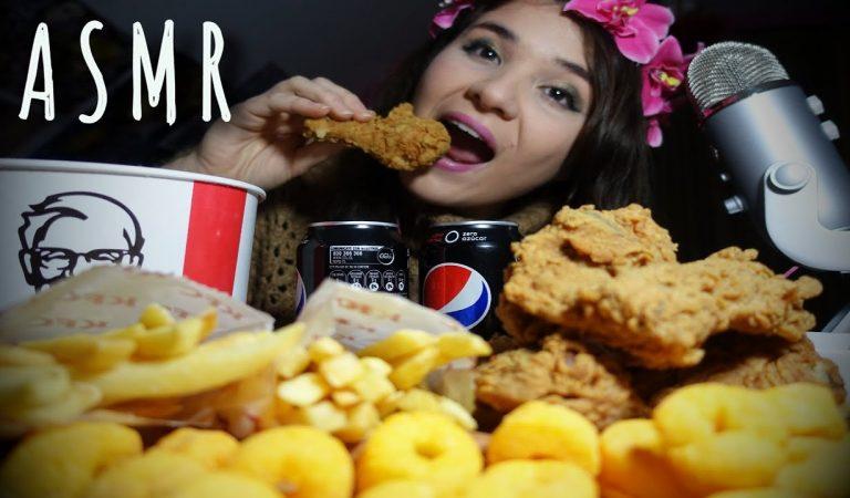 ASMR 💛 Comiendo Papas Fritas y Pollo Crispy (EATING SOUNDS) 😋