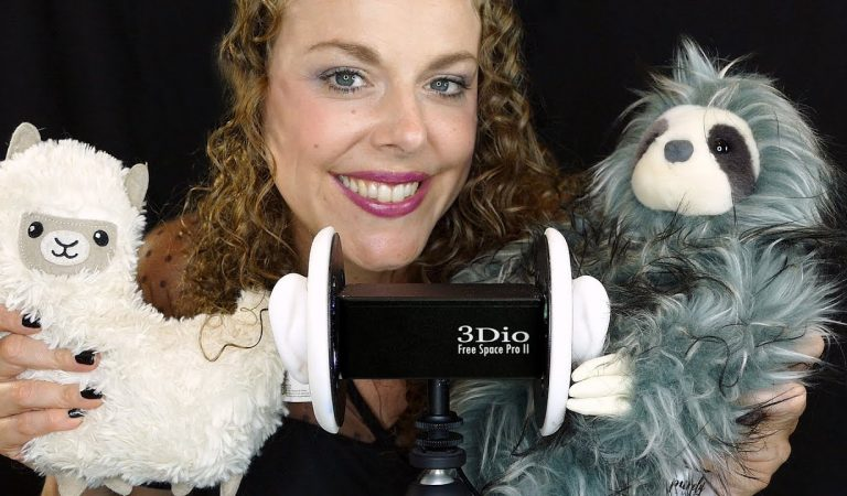ASMR 10 Adorable, Fluffy Triggers on the 3Dio ♥ Whispering, Ear Massage, Fabric Sounds, Cute, Sleep