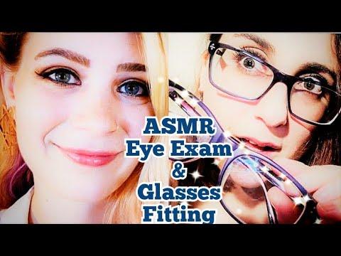 ASMR EYE DOCTOR EXAM & GLASSES FITTING ~ Up Close Examination (Ft. calliope whispers ASMR)
