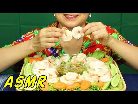 ASMR • Ocean Prawns Lunch • Eating Sounds • Light Whispers • Nana Eats