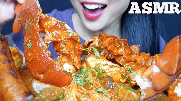 Asmr 5lb Lobster Tail Sausage Oyster Mushroom Seafood Sauce Eating Sound No Talking Sas Asmr Asmrhd We are obsessed with sas asmr's seafood dipping sauce. asmrhd