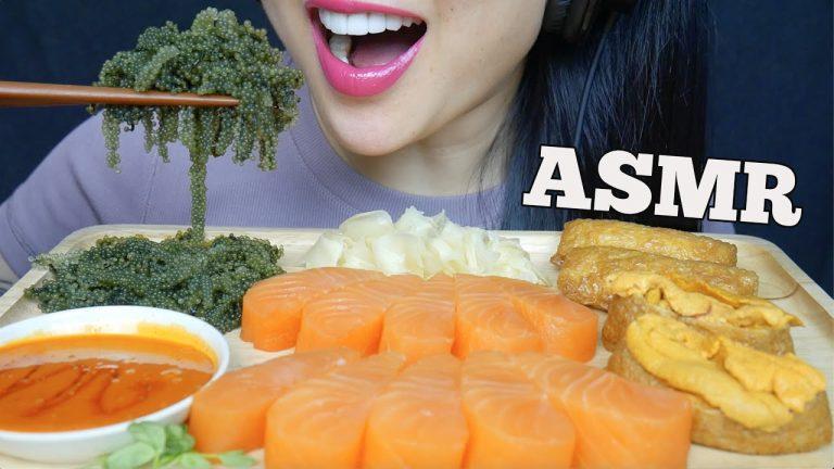 Asmr Salmon Sashimi Seagrapes Uni Inari Mayo Fire Sauce Eating Sounds No Talking Sas Asmr Asmrhd Asmr occurs in response to certain stimuli and has also been likened to a 'head orgasm'. asmr salmon sashimi seagrapes uni