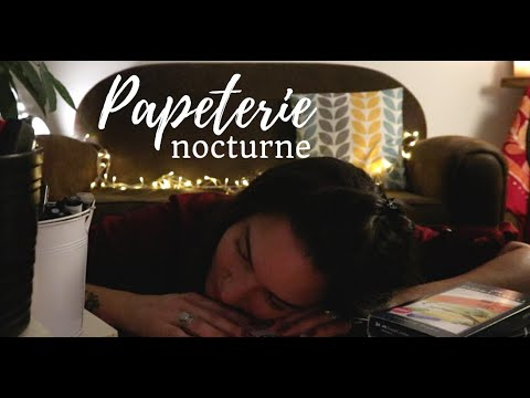 ASMR ROLEPLAY * Papeterie nocturne *