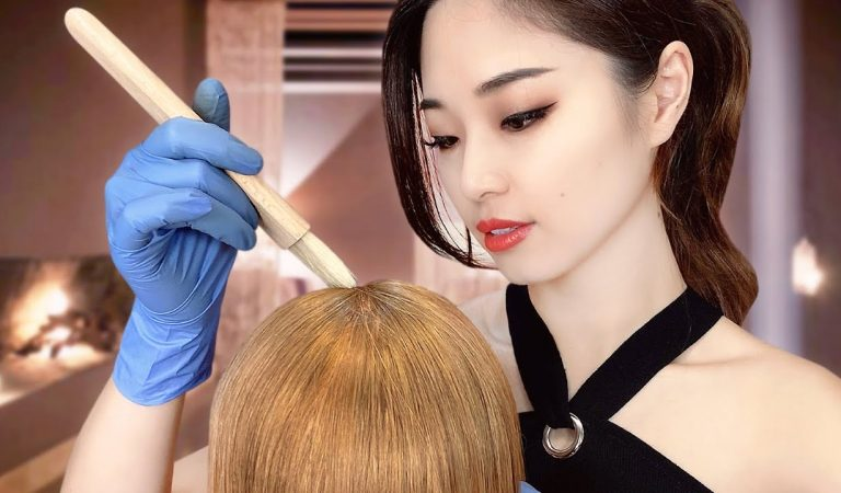 [ASMR] Sleep Inducing Fall Hair Treatment