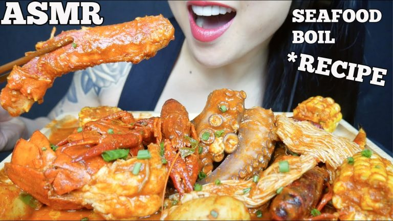 Asmr Seafood Boil With Recipe King Crab Lobster Octopus Eating Sounds No Talking Sas Asmr Asmrhd Her birthday, what she did before fame, her family life, fun trivia facts with more than 2.2 billion total video views, sas became a youtube phenomenon specializing in eating. asmr seafood boil with recipe king